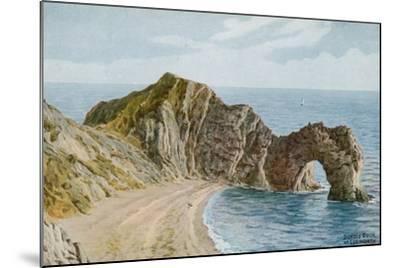 Durdle Door Near Lulworth-Alfred Robert Quinton-Mounted Giclee Print