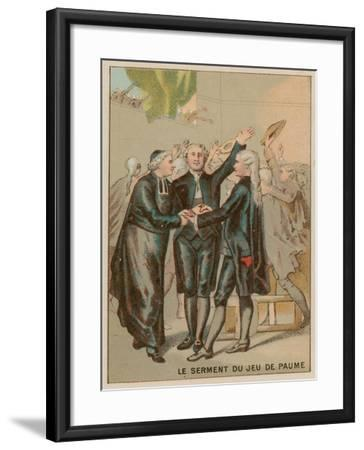 The Tennis Court Oath--Framed Giclee Print