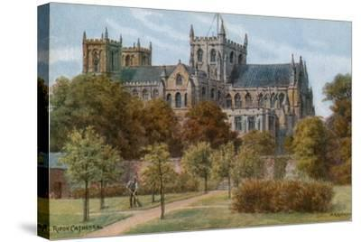 Ripon Cathedral-Alfred Robert Quinton-Stretched Canvas Print