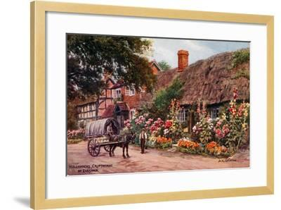 Hollyhocks, Cropthorne, Evesham-Alfred Robert Quinton-Framed Giclee Print