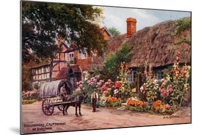 Hollyhocks, Cropthorne, Evesham-Alfred Robert Quinton-Mounted Giclee Print