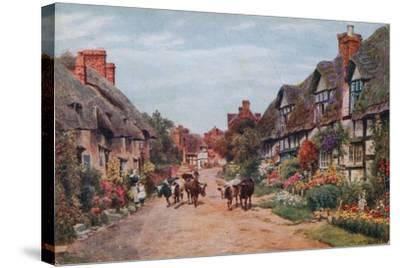 Wrye Village, Lancashire-Alfred Robert Quinton-Stretched Canvas Print