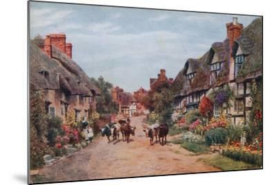 Wrye Village, Lancashire-Alfred Robert Quinton-Mounted Giclee Print