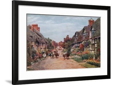 Wrye Village, Lancashire-Alfred Robert Quinton-Framed Giclee Print