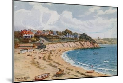 Bathing Beach, Falmouth-Alfred Robert Quinton-Mounted Giclee Print