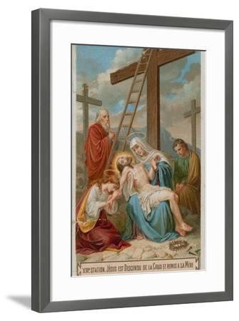 Jesus Is Taken Down from the Cross and Restored to His Mother. the Thirteenth Station of the Cross--Framed Giclee Print