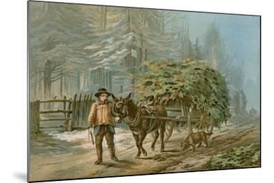 The Holly Cart-Edward Duncan-Mounted Giclee Print