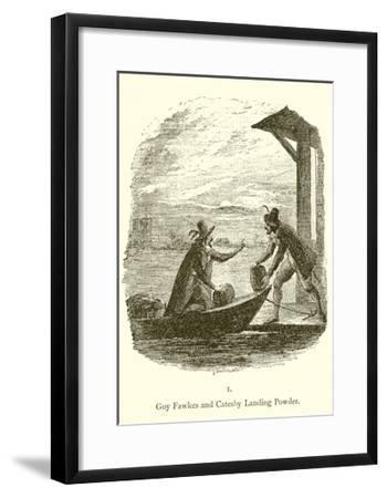 Guy Fawkes and Robert Catesby Landing Powder-George Cruickshank-Framed Giclee Print