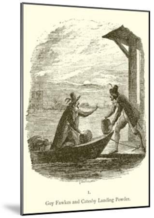 Guy Fawkes and Robert Catesby Landing Powder-George Cruickshank-Mounted Giclee Print