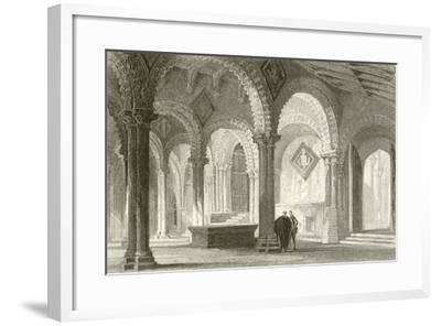 The Galilee, West End of Durham Cathedral-Thomas Allom-Framed Giclee Print
