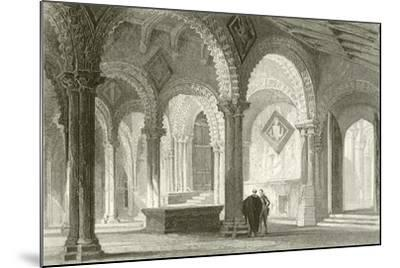 The Galilee, West End of Durham Cathedral-Thomas Allom-Mounted Giclee Print