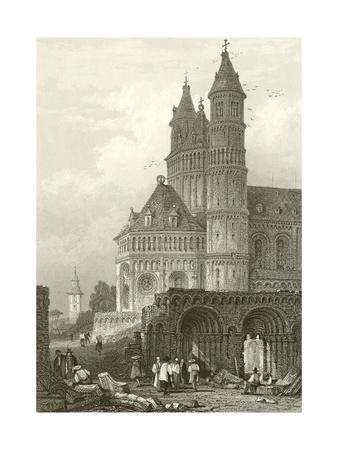 The Cathedral at Worms-Samuel Prout-Framed Giclee Print