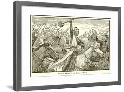Charles Martel at the Battle of Tours--Framed Giclee Print