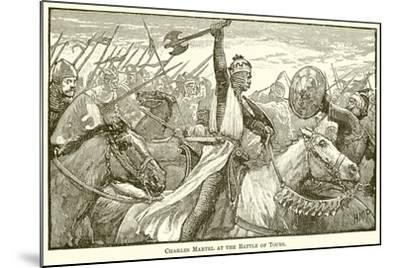 Charles Martel at the Battle of Tours--Mounted Giclee Print