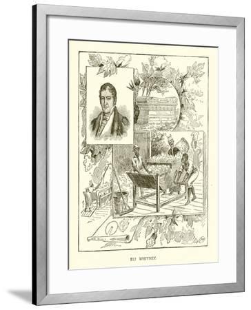 Eli Whitney--Framed Giclee Print