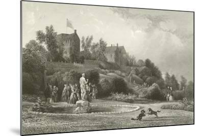 Drummond Castle--Mounted Giclee Print