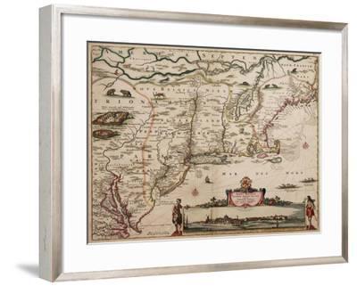 Novi Belgi Novaeque Angliae [New Netherland and New England], 1682-Nicolaes the Younger Visscher-Framed Giclee Print