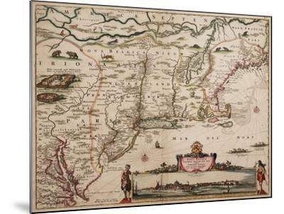 Novi Belgi Novaeque Angliae [New Netherland and New England], 1682-Nicolaes the Younger Visscher-Mounted Giclee Print