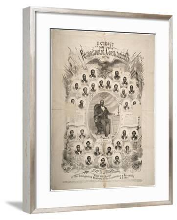 Extract from the Reconstructed Constitution of the State of Louisiana, 1868--Framed Giclee Print