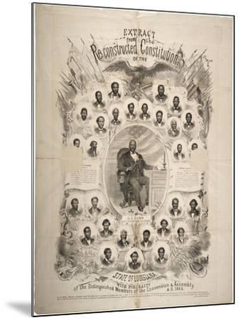 Extract from the Reconstructed Constitution of the State of Louisiana, 1868--Mounted Giclee Print