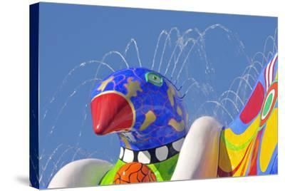 Detail of Lifesaver Fountain by Niki De Saint Phalle, Duisburg, Germany--Stretched Canvas Print