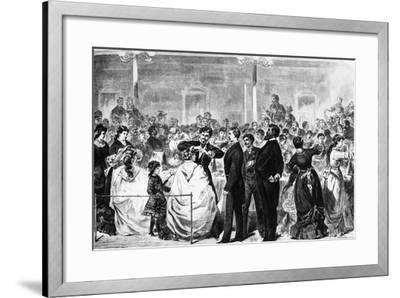 The Examination of Apprentices in the Tonhalle, Berlin, by a Committee of the Hairdressing…-German School-Framed Giclee Print