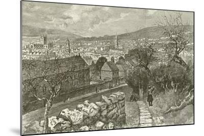 Bath, from Beechen Cliff--Mounted Giclee Print
