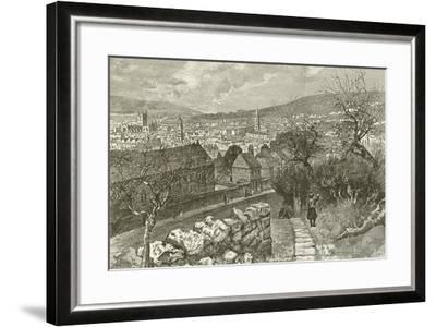 Bath, from Beechen Cliff--Framed Giclee Print