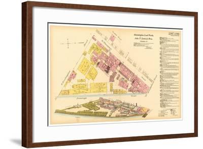 Map of Philadelphia Lead Works, 1889--Framed Giclee Print