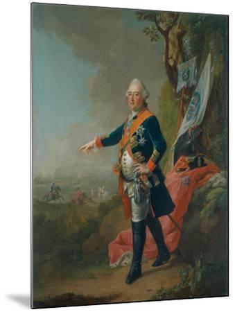 Frederick II, Landgrave of Hesse-Kassel, in the Officer's Uniform of the 45th Prussian Infantry…-Johann Heinrich Tischbein-Mounted Giclee Print