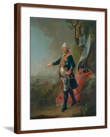 Frederick II, Landgrave of Hesse-Kassel, in the Officer's Uniform of the 45th Prussian Infantry…-Johann Heinrich Tischbein-Framed Giclee Print