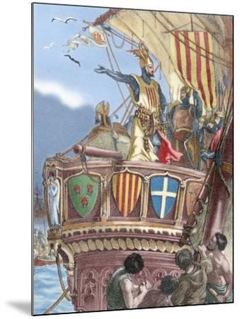 James I the Conqueror (1208-1276). Count of Barcelona and King of Aragon (1213-1276), Valencia…--Mounted Giclee Print