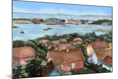 Norway. Horten. 19th Century. View of the City with the Port and Arsenal of the State with the…--Mounted Giclee Print