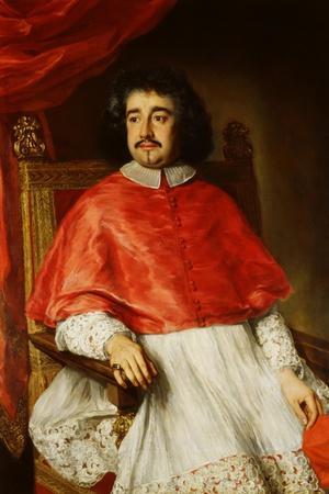 Portrait of Flavio Chigi-Jacob Ferdinand Voet-Stretched Canvas Print