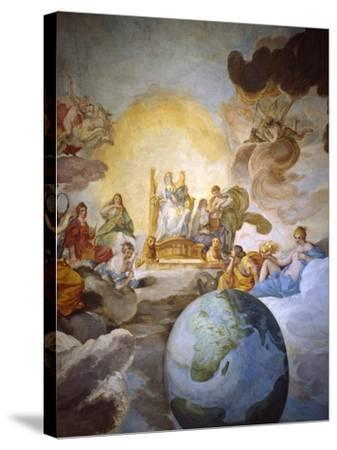 Allegory of Divine Wisdom, 1629-33-Andrea Sacchi-Stretched Canvas Print