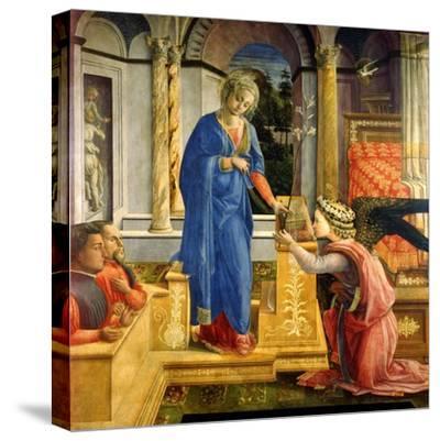 The Annunciation, Carafa Chapel, Santa Maria Sopra Minerva, Rome, 1488-93-Filippino Lippi-Stretched Canvas Print