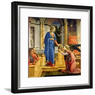 The Annunciation, Carafa Chapel, Santa Maria Sopra Minerva, Rome, 1488-93-Filippino Lippi-Framed Giclee Print