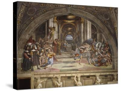 The Expulsion of Heliodorus from the Temple, Stanza Di Eliodoro, 1511-12-Raphael-Stretched Canvas Print
