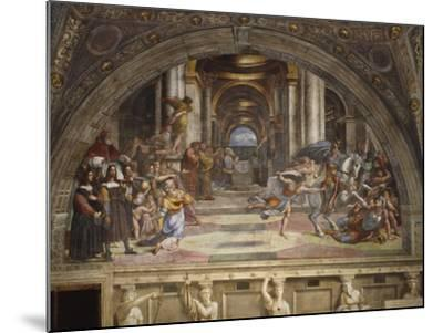 The Expulsion of Heliodorus from the Temple, Stanza Di Eliodoro, 1511-12-Raphael-Mounted Giclee Print