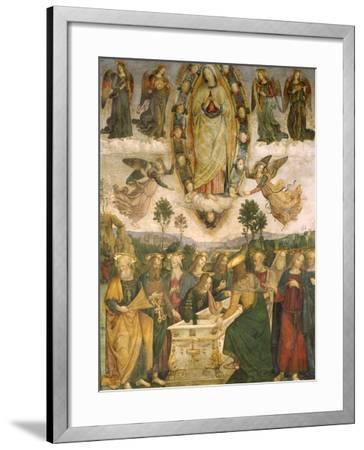 The Assumption of the Virgin-Bernardino di Betto Pinturicchio-Framed Giclee Print