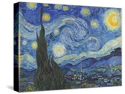 The Starry Night, June 1889-Vincent van Gogh-Stretched Canvas Print