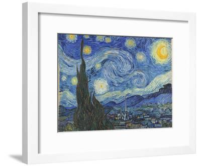 The Starry Night, June 1889-Vincent van Gogh-Framed Premium Giclee Print