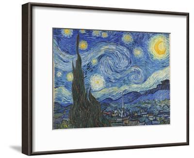 The Starry Night, June 1889-Vincent van Gogh-Framed Premium Giclee Print
