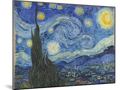 The Starry Night, June 1889-Vincent van Gogh-Mounted Premium Giclee Print