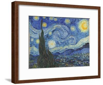 The Starry Night, June 1889-Vincent van Gogh-Framed Giclee Print