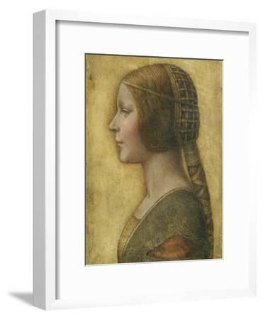 Profile of a Young Fiancee-Leonardo da Vinci-Framed Premium Giclee Print