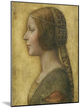 Profile of a Young Fiancee-Leonardo da Vinci-Mounted Premium Giclee Print
