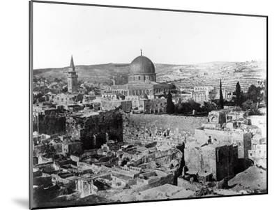 Dome of the Rock, 1857-James Robertson and Felice Beato-Mounted Photographic Print