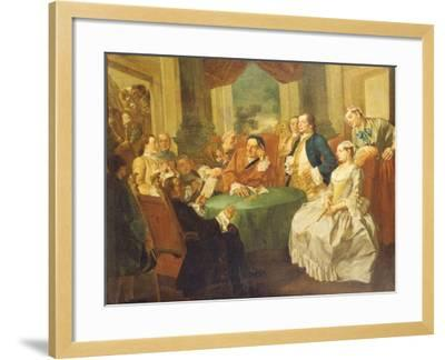The Marriage Contract-Gaspare Traversi-Framed Giclee Print