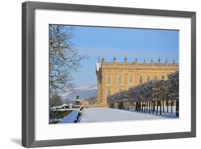 South Front, Chatsworth House, Derbyshire--Framed Photographic Print